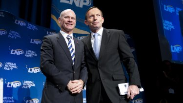 Queensland Premier Campbell Newman with Prime Minister Tony Abbott.