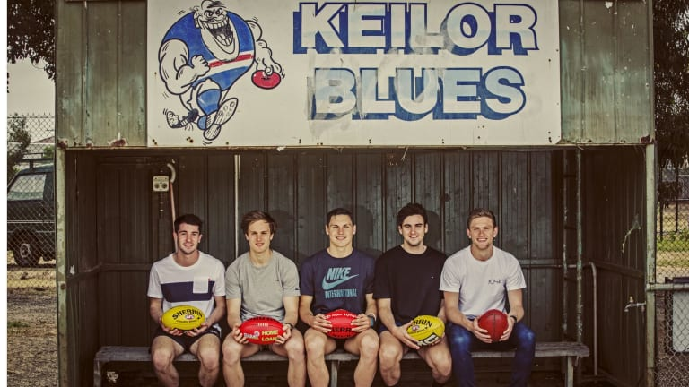 The Keilor five: Corey Ellis, Nick O'Kearney, Damien Cavka, Paul Ahern and Jayden Laverde. All seem set for AFL clubs, although O'Kearney will have to wait until next year.