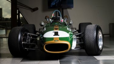 Historic Brabham race car on display in Canberra at National Museum