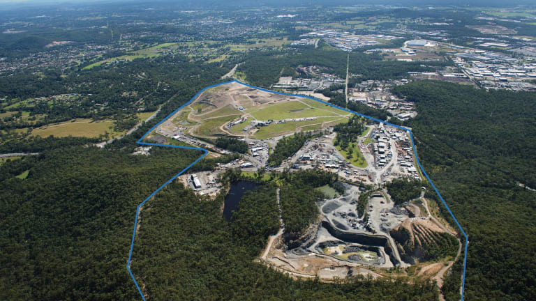 Empire Industrial Estate, a $1 billion business park on the Gold Coast. An example where industrial land steadily takes green space to provide jobs and industry.