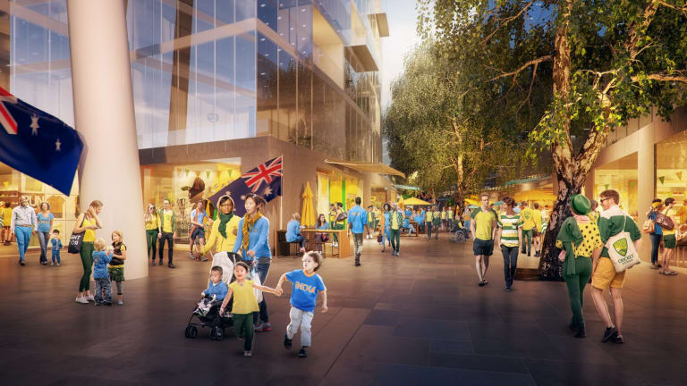 First effort: An artist's impression of the earlier version of the redevelopment.