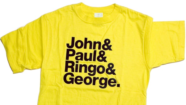The Superstructure exhibition includes the groundbreaking Beatles T-shirt.