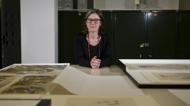 Curator Bridie Macgillicuddy of the Girl Operatives: Women's War Work showcases the artwork of women during the Second World War.