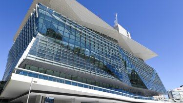 The International Convention Centre Sydney at Darling Harbour.