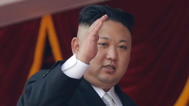 North Korean leader Kim Jong Un waves during a military parade in Pyongyang, North Korea, in April.