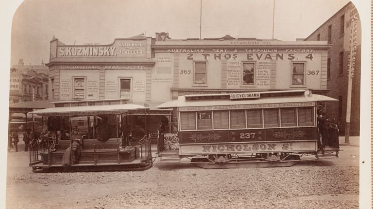 A Melbourne landmark: An early incarnation of of the store in Bourke Street, circa 1890-1900.