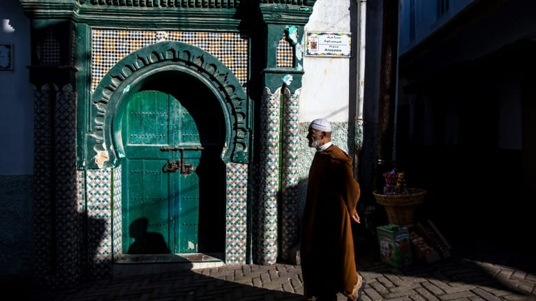 The old city of Tangier, in Morocco.