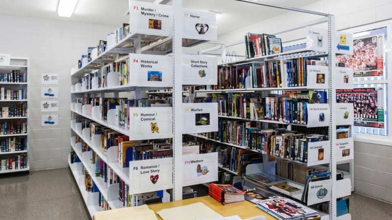 The library collection at the Alexander Maconochie Centre contains about 5000 items.