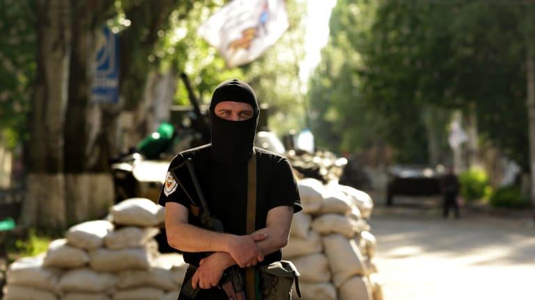 Unknown soldier: A pro-Russian rebel in Slavyansk, May 2014.