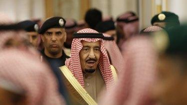 Saudi Arabia's King Salman in Riyadh last year.