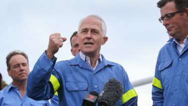 Prime Minister Malcolm Turnbull and Premier Daniel Andrews announce a deal to save Portland's Alcoa plant.