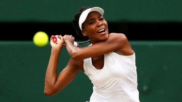 Venus Williams during the Ladies Singles final.