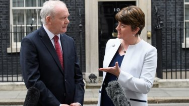 McGuinness and First Minister Arlene Foster in London in October.