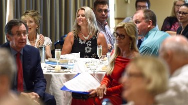 Kirralie Smith (centre) at the Q Society fundraiser held at North Ryde RSL.