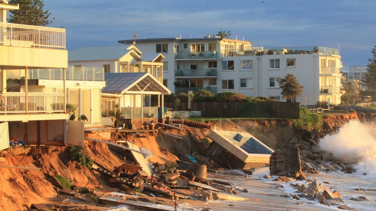 Houses at Collaroy Beach front got smashed by the weekend storm surge.