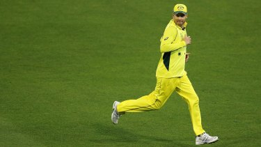On the run: Michael Clarke's recovery from surgery is ahead of schedule.