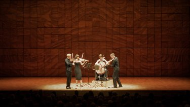 Australian String Quartet's performs Glass Dean Mendelssohn at the Melbourne Recital Centre on Friday.