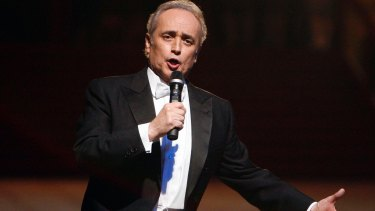Jose Carreras sings at the opening of Vienna's traditional Opera Ball in 2008.