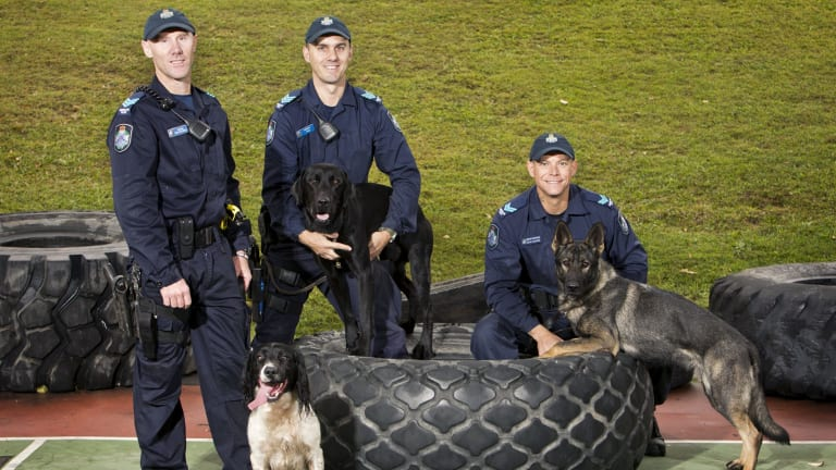 Newly appointed members of the Queensland dog squad.