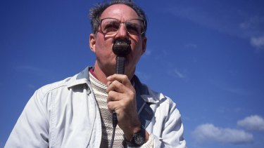 Masterful: Tony Cozier, pictured in Somerset in 1995.