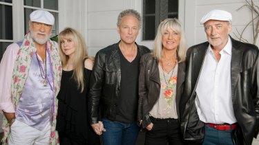 Mac is back: Mick Fleetwood, Stevie Nicks, Lindsay Buckingham, Christine McVie and John McVie.