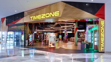 The new look Timezone concept store at Pacific Werribee in Melbourne's west, which opened in late 2016.