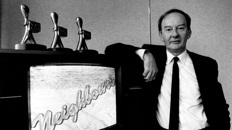 Don Battye, executive producer of <i>Neighbours</i> in 1989.