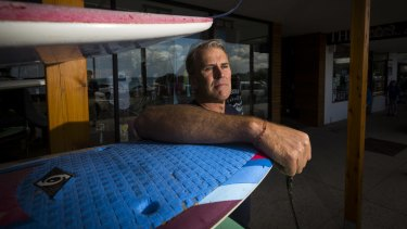 Grant Price, owner of Lorne Surf Shop. Christmas Day was dramatic for residents and holidaymakers in Lorne this year.