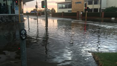 Grosvenor Street in Brighton - just one of many places in Melbourne that were hit by flash-floods.