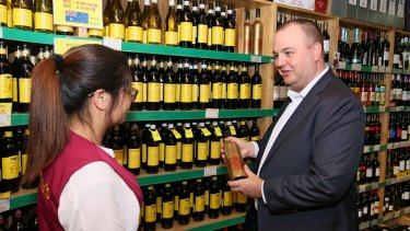 Australian wine exports to China grew 51 per cent in the year to March 2017.