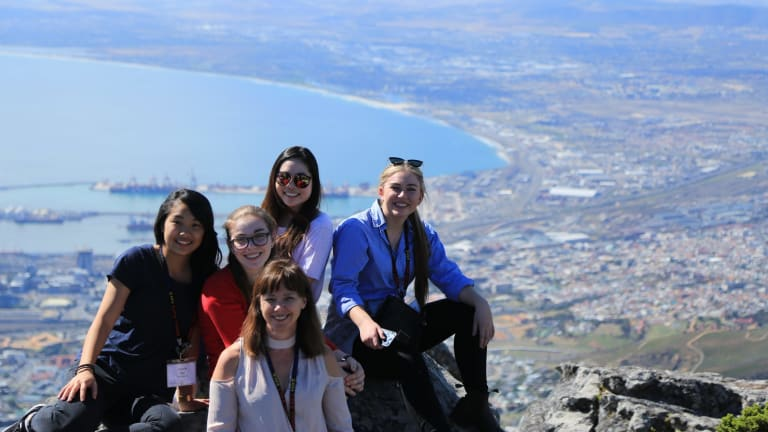 Students explored Cape Town on breaks from  the public speaking contest.