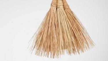 Bamboo sweeper, $25.