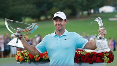 Champion's trophies: Rory McIlroy is looking to return to the top after a spell away from the game.