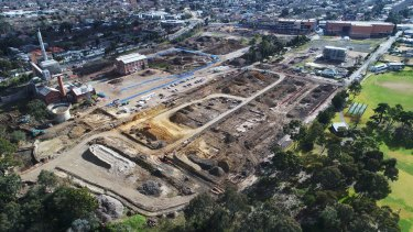 About two-thirds of the Alphington site is being developed, but asbestos concerns may delay the remaining corner, near the Chandler Highway and the Yarra River.