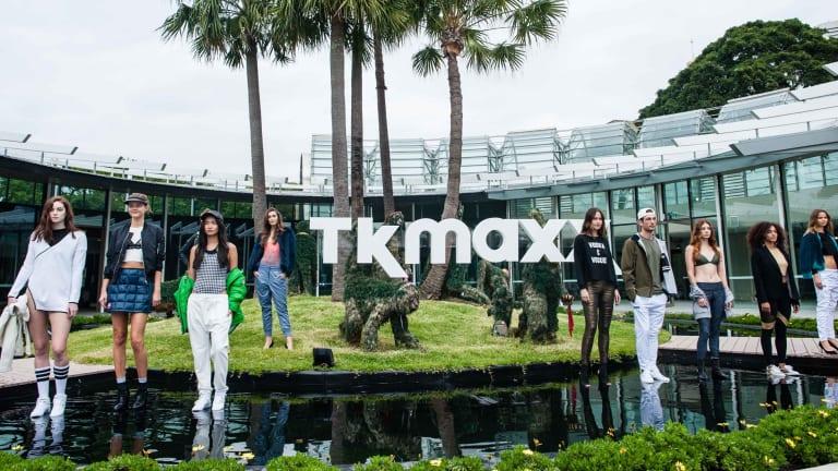 Models showcase designs during the TK Maxx Australia launch in Sydney.