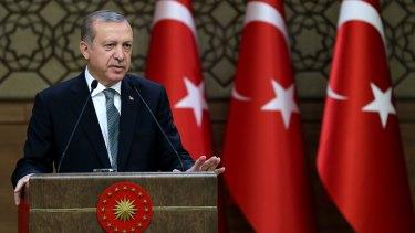 Turkish President Recep Tayyip Erdogan at his palace in Ankara last week.
