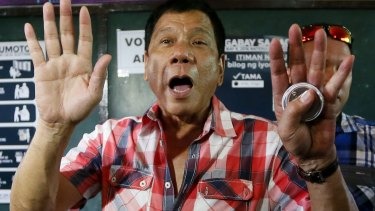 The outspoken Rodrigo Duterte.