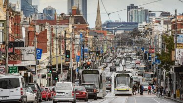 Sydney Road in Brunswick and Coburg has the slowest off-peak traffic in Melbourne.