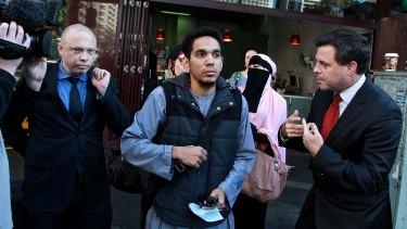 Junaid Thorne leaves court following a hearing last week.