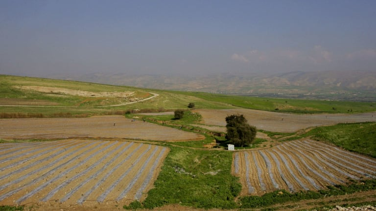 The Jordan Valley, where 86 per cent of land has been allocated for the use of settlements.