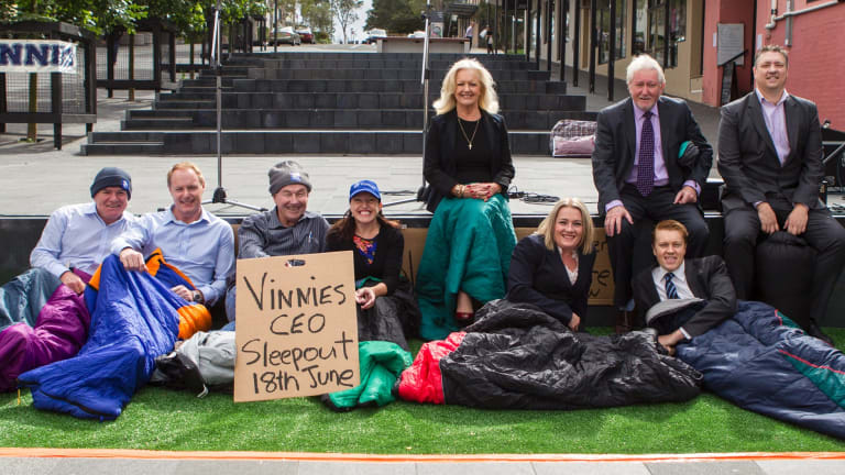 The Vinnies CEO Sleepout raises money and awareness for homelessness but is also good PR for businesses who participate.