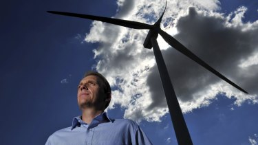 Environment Minister Simon Corbell: Canberra to be 100 per cent powered by renewable energy in four years.