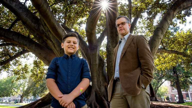 Dr Stuart Mannering, right, with Dane Pavlovic who has type 1 diabetes.