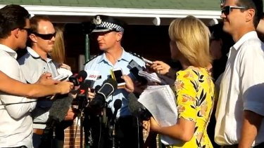 Inspector Todd Reid speaks to media about the accident at Dreamworld.