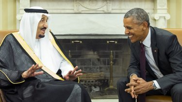 President Barack Obama, right, meets with King Salman of Saudi Arabia in the Oval Office in September.