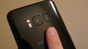 The fingerprint reader - just out of reach.