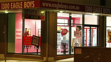 Eagle Boys franchise numbers have halved in Australia in recent years.