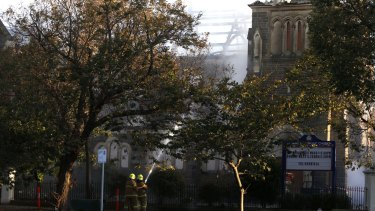 The historic St James Church in Brighton is one of three to burn within 48 hours.