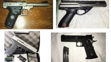 Some of the firearms featured in ads that could be used by gun thieves.