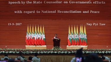 The world had been waiting for  Aung San Suu Kyi to speak up for the Rohingya population but in her speech she said there were allegations and counter allegations.
